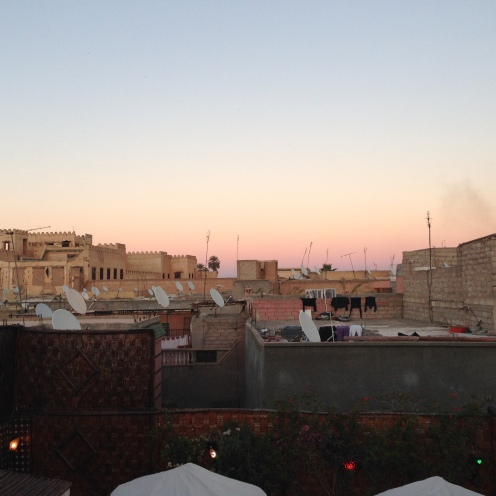 Rooftop view from our Riad